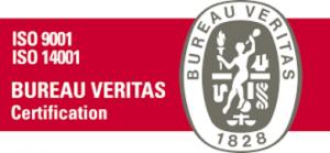 Logo bureau veritas ISO 9001 e 14001